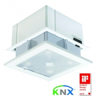 Jetzt auch als KNX-Lösung: Der preisgekrönte ThebenHTS Präsenzmelder PlanoCentro KNX für große Büroflächen