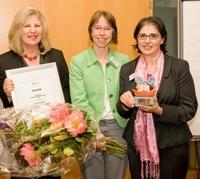 Elena Pérez erhält den WOMAN´s Networking Award 2011