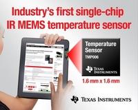 Texas Instruments MEMS-Innovation katapultiert IR-Temperaturmessung in die Welt portabler Endgeräte