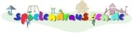 Kinderschaukel, Kinderspielhaus und Rutsche für den Garten