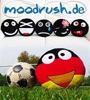 Deutschland Smiley Kissen zur Frauen-Fußball-WM - Moodrush.de erweitert Produktpalette