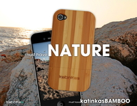 iPhone Cover aus echtem Bambus