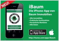 Baum Immobilien jetzt auch als iPhone-App verfügbar