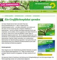 """Aktion von 1-2-3-Plakat und den Grünen: """"Spende ein Großflächenplakat"""" für den Wahlkampf in Niedersachsen"""