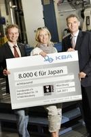 """KBA-Mitarbeiter spenden für die """"Würzburger Japanhilfe"""""""