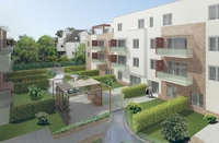 3. Bauabschnitt der AGAPELSION RESIDENZ HAVELGARTEN vor Fertigstellung