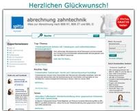 Besser abrechnen nach BEL II, BEB 97 und BEB Zahntechnik - www.abrechnung-zahntechnik.de hat sich gleich im ersten Jahr etabliert