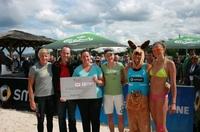 Sportliche Schützenhilfe – Känguru Charity bei der smart beach tour am Baldeney See.