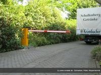 Rumatek montiert Schranken-Anlage für Getränkegroßhandel Schallenberg in Bonn