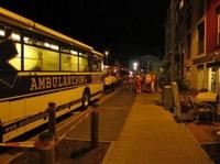 Nach Unwetter, mfs Ambulanzbus evakuiert Senioren