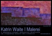 """Erstmals in Europa: """"Native World - Ureigene Welten"""", Malerei von Katrin Waite in der WerkstattGalerie TRIALOG, Berlin-Schöneberg"""