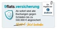 9flats versichert Mietsachschäden bis zu 500.000 Euro