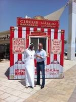 André Sarrasani erstmals in Abu Dhabi : Vorbereitungen für Gastspiel am Arabischen Golf