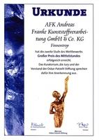 AFK Kunststoffverarbeitung freut sich auf Gala zum Großen Preis des Mittelstandes