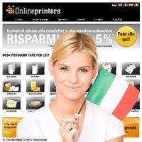 Onlineprinters GmbH geht mit italienischem Webshop online