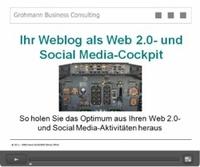 """GROHMANN BUSINESS CONSULTING gibt Startschuss für Online-Workshop """"Ihr Weblog als Web 2.0- und Social Media-Cockpit"""""""