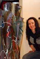 Größte Glas-Vase der Welt von Regi von Rüti im Atelier Heinze in Starnberg