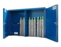 Das Plus an Sicherheit: Gasflaschen-Lagerung mit fünfseitigem Brandschutz