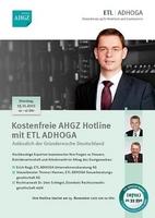 AHGZ Hotline: Alles über Betriebswirtschaft, Steuern und Arbeitsrecht