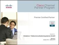"""thetakom. auch für 2012 """"Premier Certified Partner"""" von Cisco"""