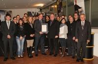Auszeichnung zum Unternehmen des Monats November 2011 in der Gewinnerregion