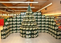SCA Packaging bringt den Weihnachtsbaum an den P.O.S.