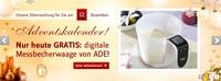 BAUR-Adventskalender vom 12. Dezember: Profi-Waage von ADE!