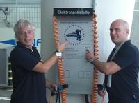 showimage Parkhauskunden tanken Strom kostenlos bis zum 31.12.2012.