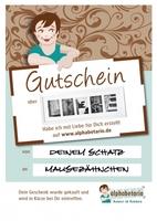 """Individuelles Geschenk in letzter Minute:  Namen im Rahmen aus Alphabet-Fotografien auch """"5 vor Tannenbaum""""."""