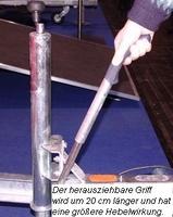 www.mit-Pferden-reisen informiert: kinderleichtes Handbremsen-System an Pferdeanhängern von WM Meyer