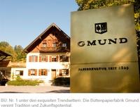 """Die Nr. 1 unter den """"Trendsettern"""" - Büttenpapierfabrik Gmund siegt im Focus-Ranking der deutschen Top-Marken"""