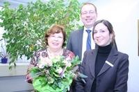 40-jähriges Dienstjubiläum am 6. Januar 2011 bei der Rüsselsheimer Volksbank eG