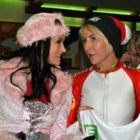 Exfrau von Paul McCartney,Heather Mills amüsiert sich mit Schlagerstar Antonia aus Tirol