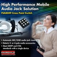 Audiostecker-Erkennungsschalter von Fairchild Semiconductor unterstützt OMTP- und CTIA-Standard mit einem einzigen Bauteil