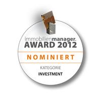 Erbbau-Fondsmanagement als eine der besten  Investment-Ideen des Jahres 2012 nominiert
