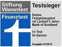 Bank of Scotland mit weniger Zinsen beim 4- und 5-jährigen Festgeld