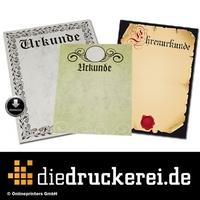 diedruckerei.de erweitert mit Urkunden das Drucksachen-Sortiment