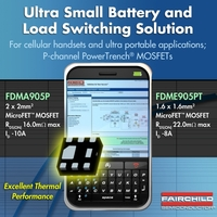 Single P-Kanal PowerTrench® MOSFETs von Fairchild Semiconductor bieten kleine Bauform und geringen Durchlasswiderstand