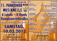 11. Pankower Musikmeile am 10. März 2012, unterstützt vom Autohaus Bernd Quinque