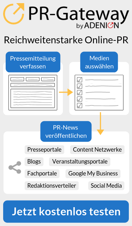Lernen Sie PR-Gateway by ADENION kennen: Jetzt kostenlos testen
