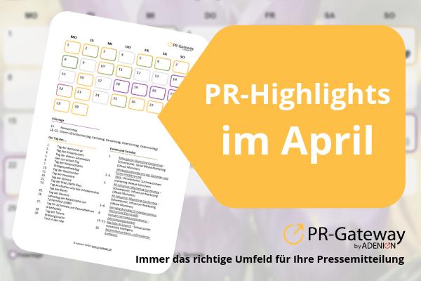 Der PR-Gateway PR-Kalender