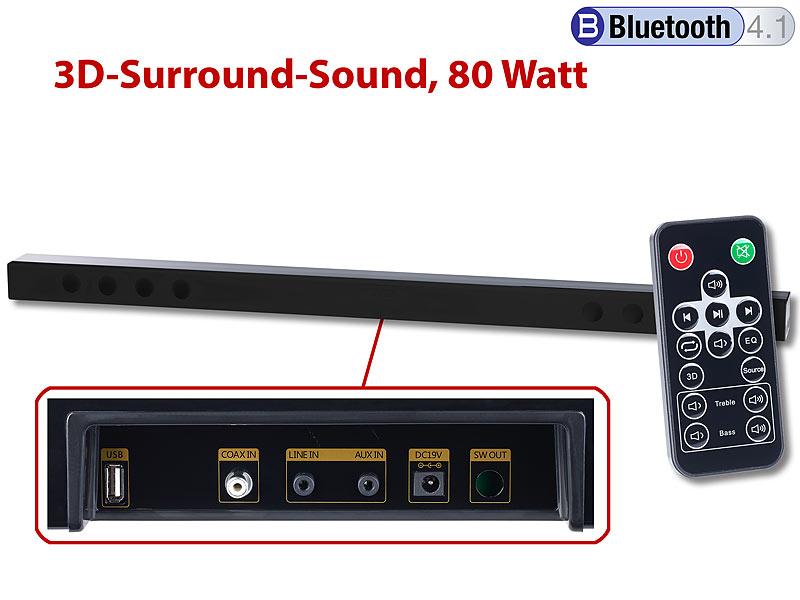 auvisio Bluetooth-Soundbar MSX-440 mit 3D-Sound-Effekt
