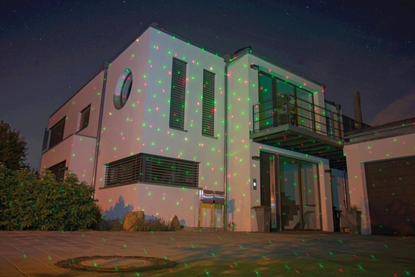 Lunartec Laser-Projektor mit Sternen-Regen-Lichteffekt