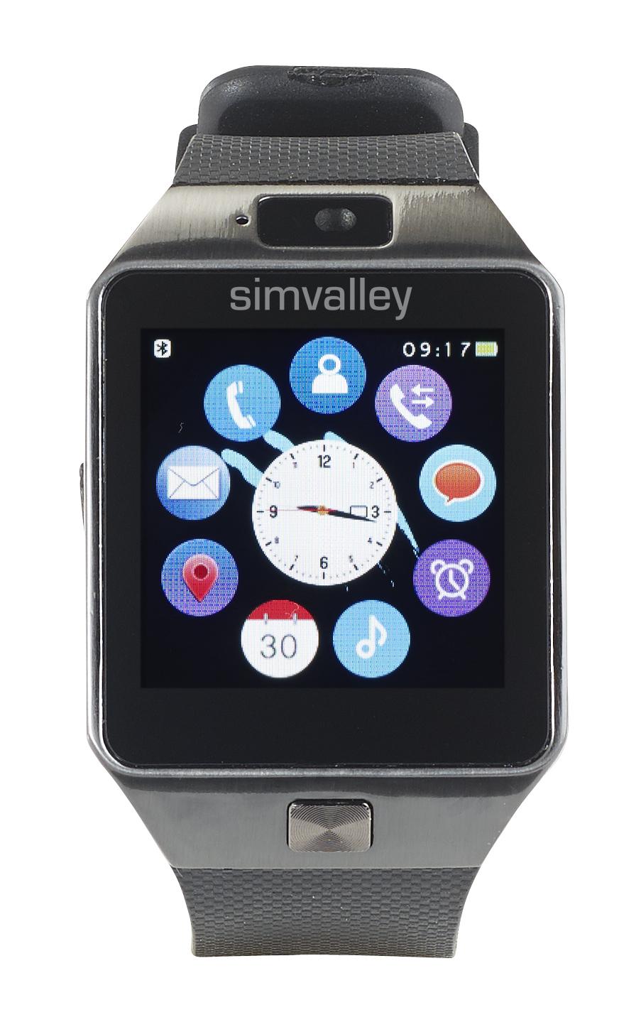 simvalley MOBILE Handy-Uhr/Smartwatch mit Bluetooth 4.0