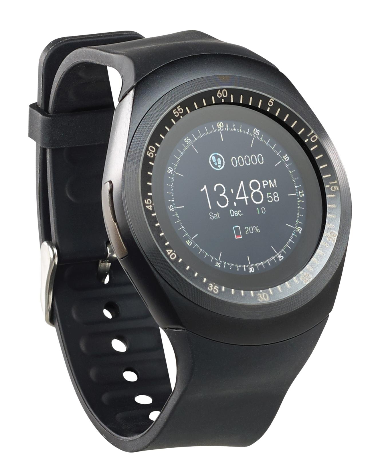 simvalley MOBILE 2in1-Handyuhr und Smartwatch PW-410