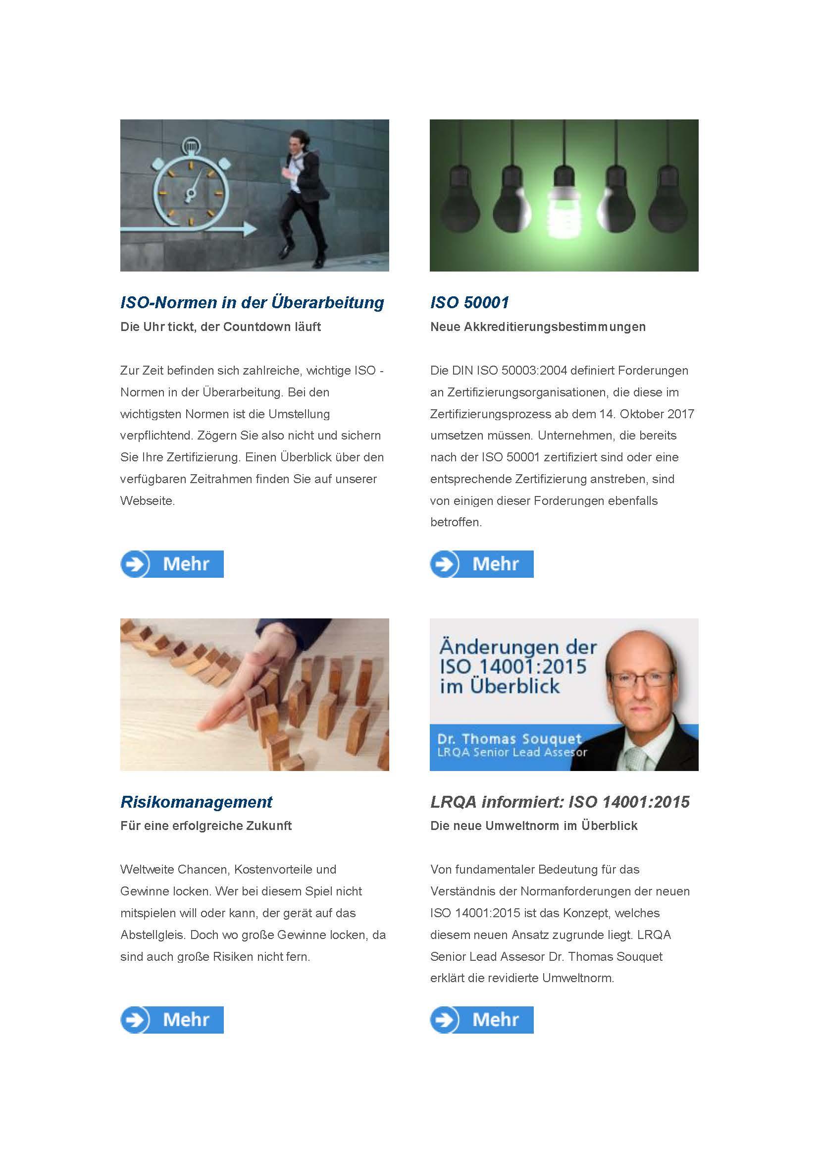 Der hochwertige, innnovative LRQA Newsdienst ab sofort erhältlich