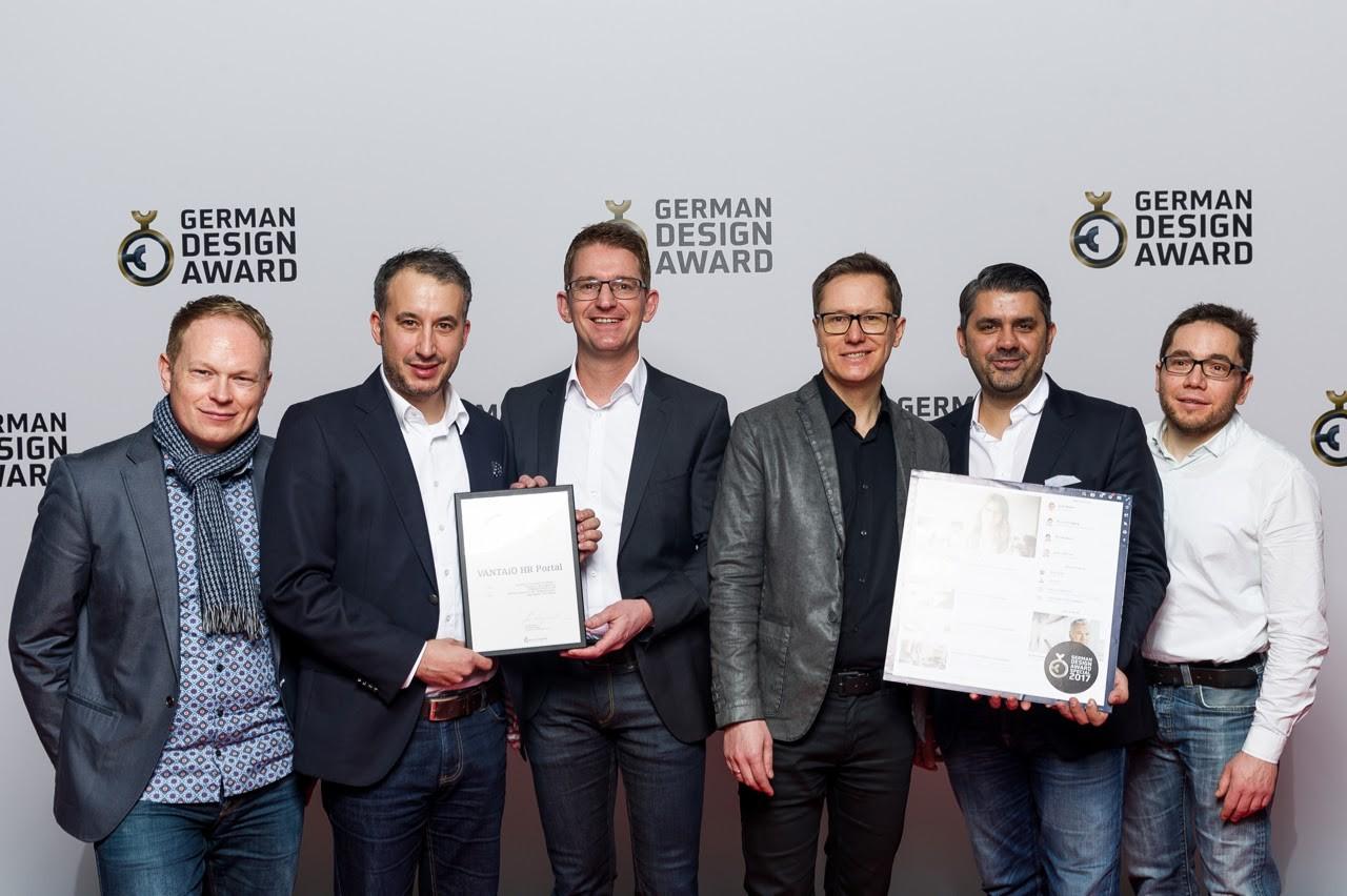 VANTAiO HR Portal gewinnt den German Design Award für herausragendes Design & UX