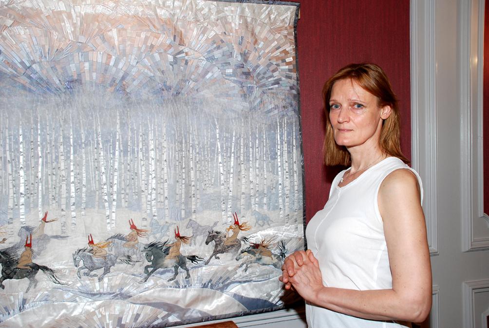 Izabella Baykova auf der wichtigste Kunstwoche in Basel