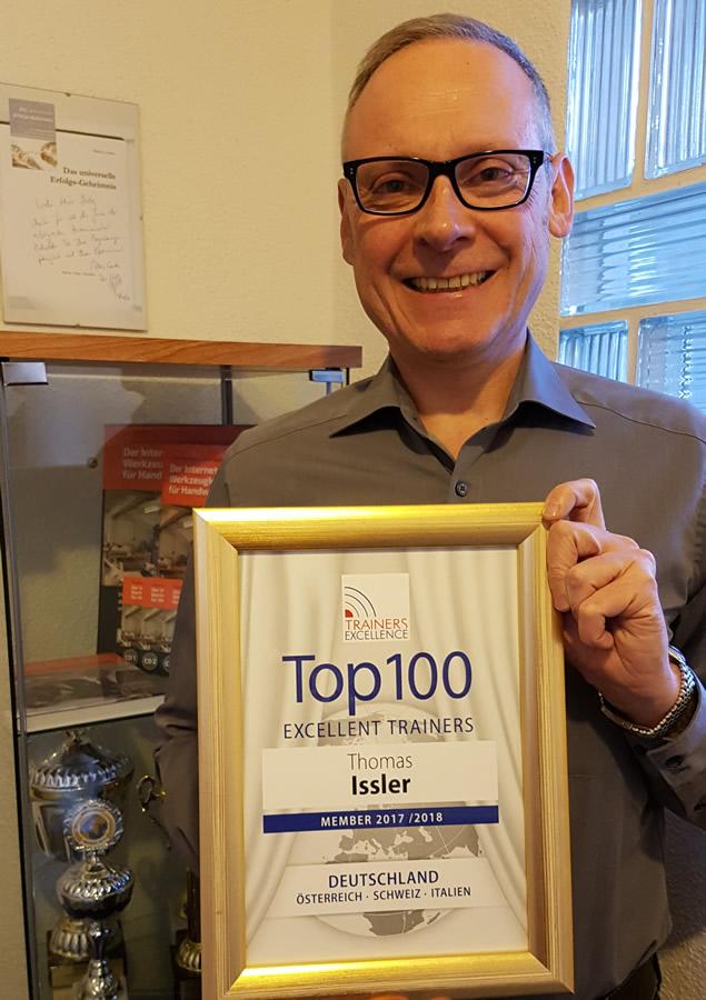 Thomas Issler wieder bei Top 100 Trainern gelistet
