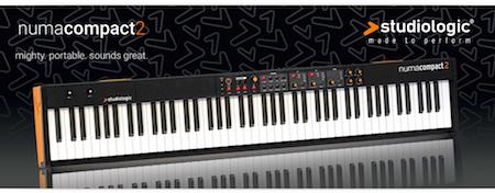 Leicht und kompakt bei vollem Klang: Studiologic präsentiert das Stage-Piano NUMA Compact 2 mit erstklassigen Sounds und integrierten Lautsprechern